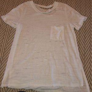 White Ripped Tshirt